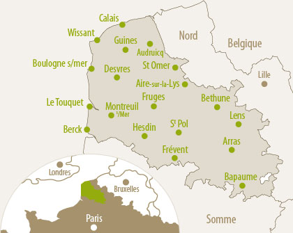 carte de vance avec kes departeman - Photo